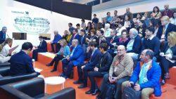 el publico de la presentación de sierra espuña en el observatorio de ecoturismo