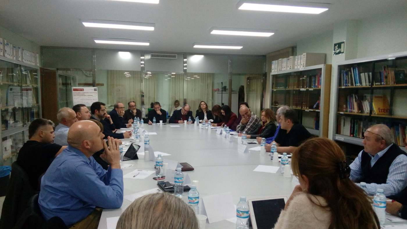 reunión de Sierra Espuña para participar en el estudio de Tursmo Rural y Natural de la región con el ITREM
