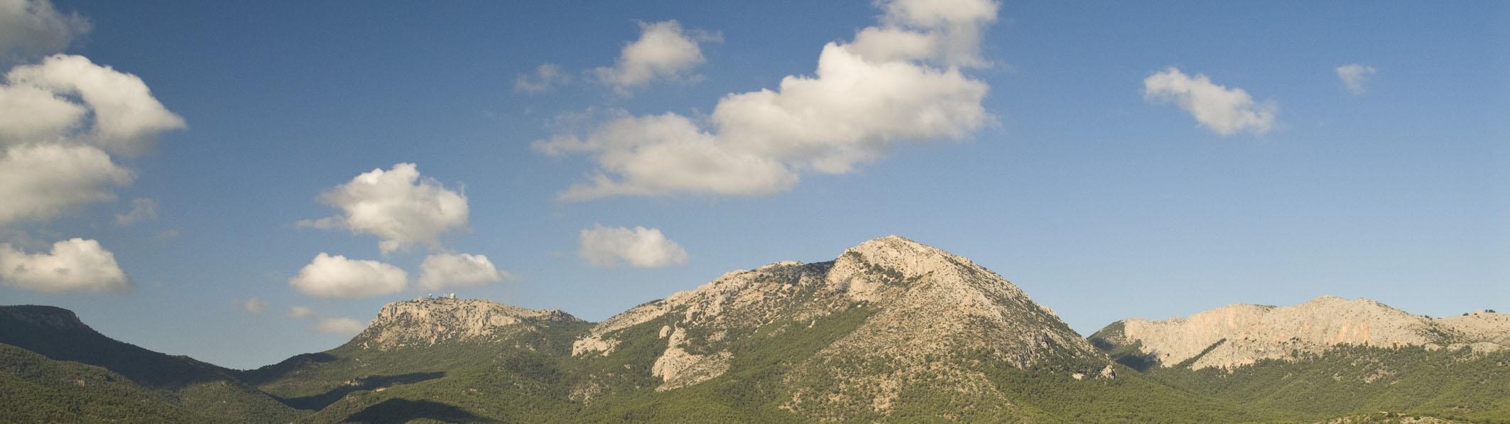 vista panorámica montaña del parque natural sierra espuña