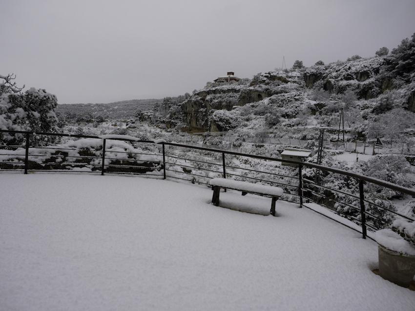 territorio sierra espuña con nieve